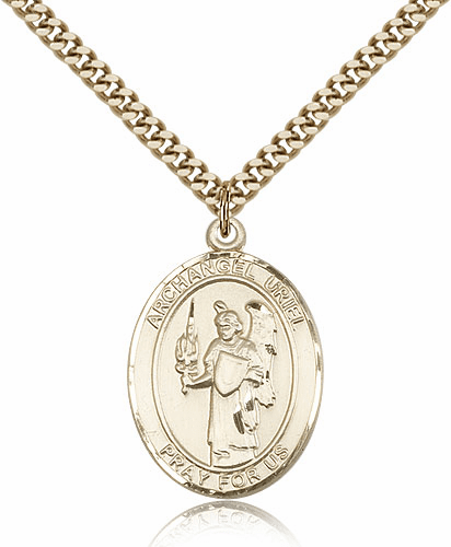St Uriel the Archangel Saint Gold-Filled Medal Necklace by Bliss