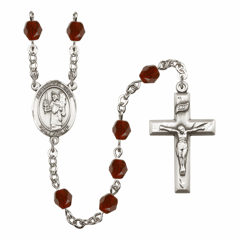 St Uriel the Archangel Birthstone Crystal Rosary by Bliss - More Colors