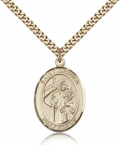St Ursula 14kt Gold Filled Patron Saint Medal Pendant by Bliss