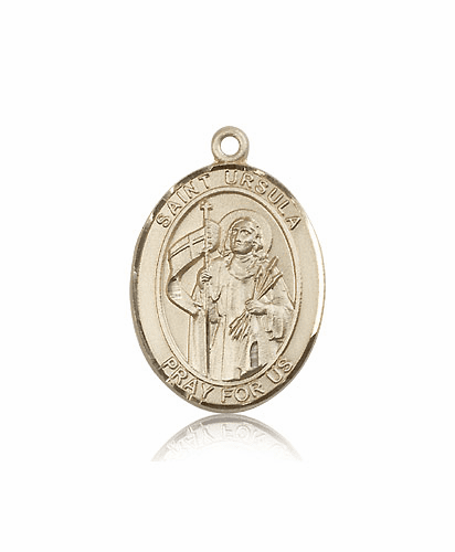 St Ursula 14kt Gold Patron Saint Medal Pendant by Bliss Mfg