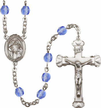 St Ursula Patron Saint Birthstone Fire Polished Crystal Prayer Rosary