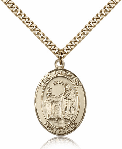St Valentine of Rome 14kt Gold-filled Saint Medal Necklace by Bliss