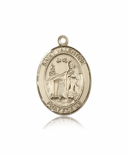 St Valentine of Rome 14kt Gold Patron Saint Medal by Bliss