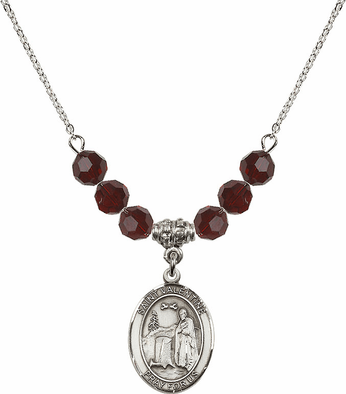 St Valentine of Rome Swarovski Crystal Beaded Jewelry