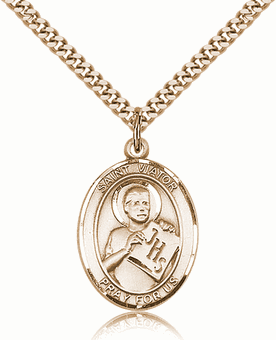 St Viator of Bergamo 14kt Gold-filled Saint Necklace by Bliss