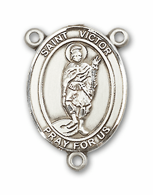 St Victor of Marseilles Patron Saint Rosary Center by Bliss
