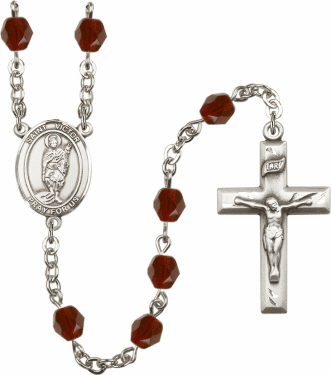 St Victor of Marseilles Birthstone Crystal Prayer Rosary by Bliss - More Colors