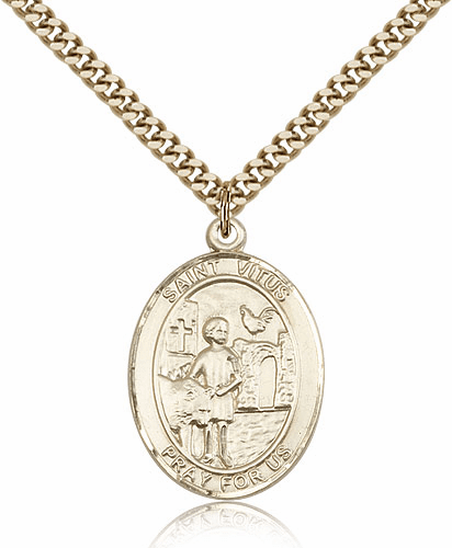 St Vitus 14kt Gold-Filled Patron Saint Medal Necklace by Bliss