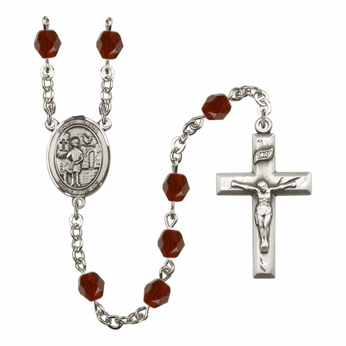 St Vitus Birthstone Crystal Prayer Rosary by Bliss - More Colors