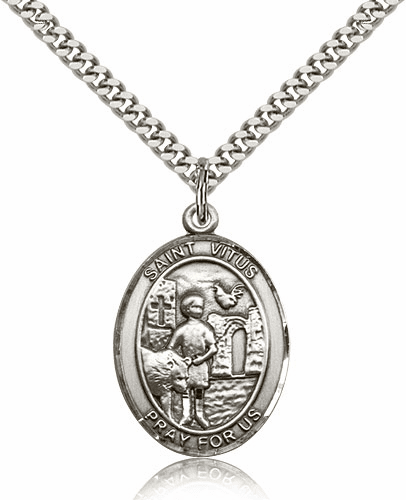 St Vitus Silver-Filled Patron Saint Necklace by Bliss
