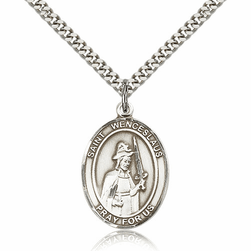 St Wenceslaus Pewter Patron Saint Necklace by Bliss