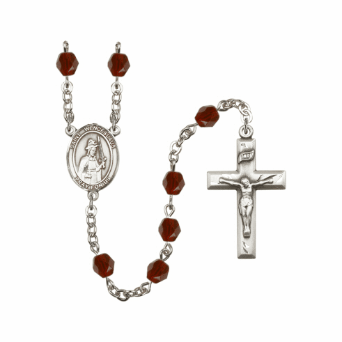 St Wenceslaus Birthstone Crystal Prayer Rosary by Bliss - More Colors