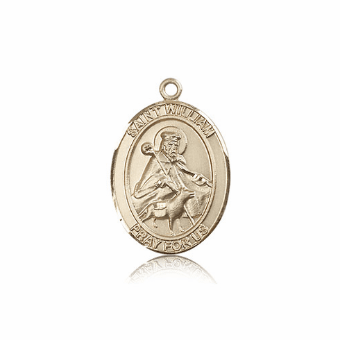 St William of Rochester 14kt Gold Patron Saint Medal Pendant by Bliss