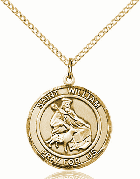 St William of Rochester Medium Patron Saint 14kt Gold-filled Medal by Bliss
