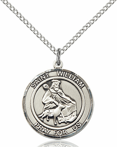 St William of Rochester Medium Patron Saint Sterling Silver Medal by Bliss