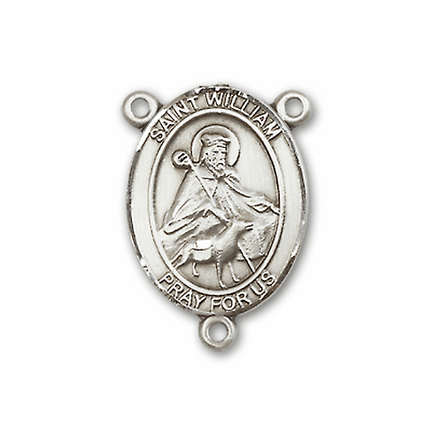 St William of Rochester Patron Saint Rosary Center by Bliss