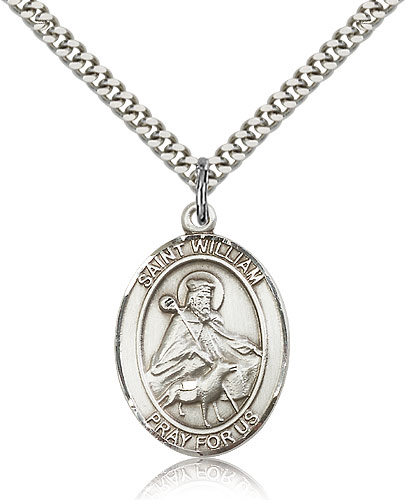 b14ecbc90c1 St William of Rochester Sterling Silver-filled Patron Saint Necklace by  Bliss