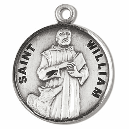 St William Sterling Silver Medal Necklace by HMH Religious