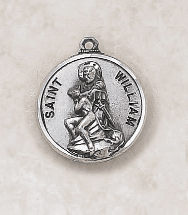 St William Sterling Sterling Patron Saint Medal w/Chain by Creed Jewelry