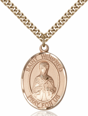 St Winifred of Wales 14kt Gold-filled Saint Necklace by Bliss