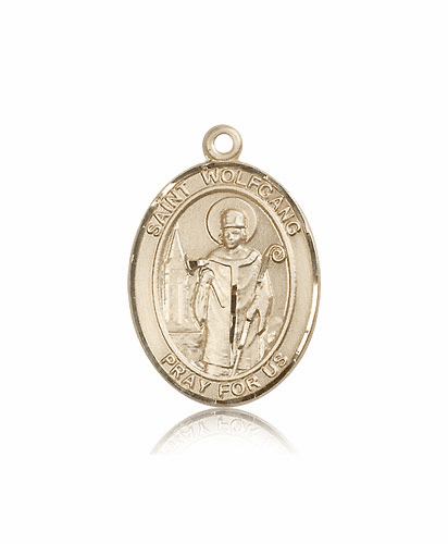 St Wolfgang 14kt Gold Patron Saint Medal Pendant by Bliss