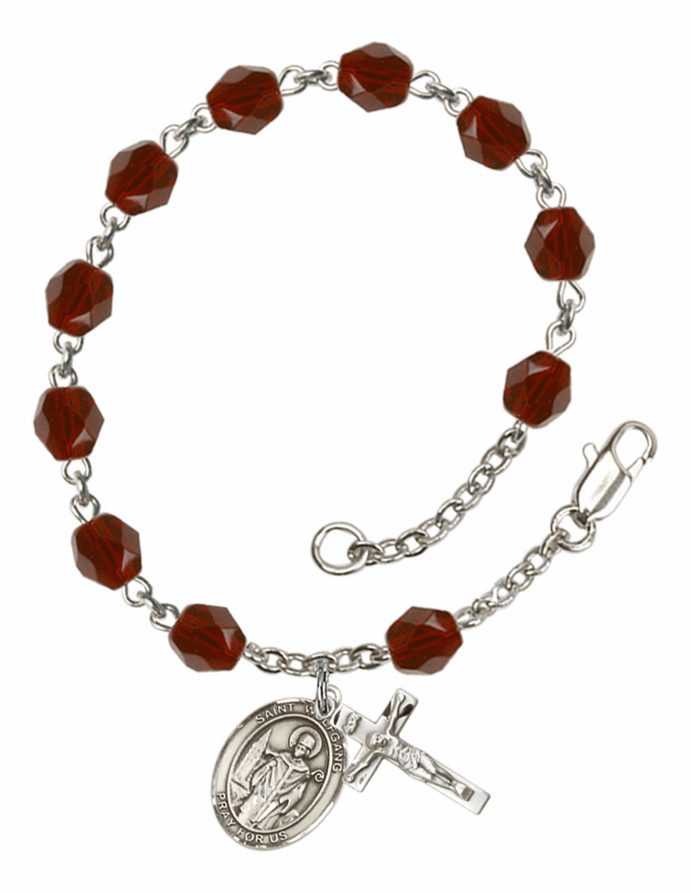 St Wolfgang Silver Plate Birthstone Rosary Bracelet by Bliss