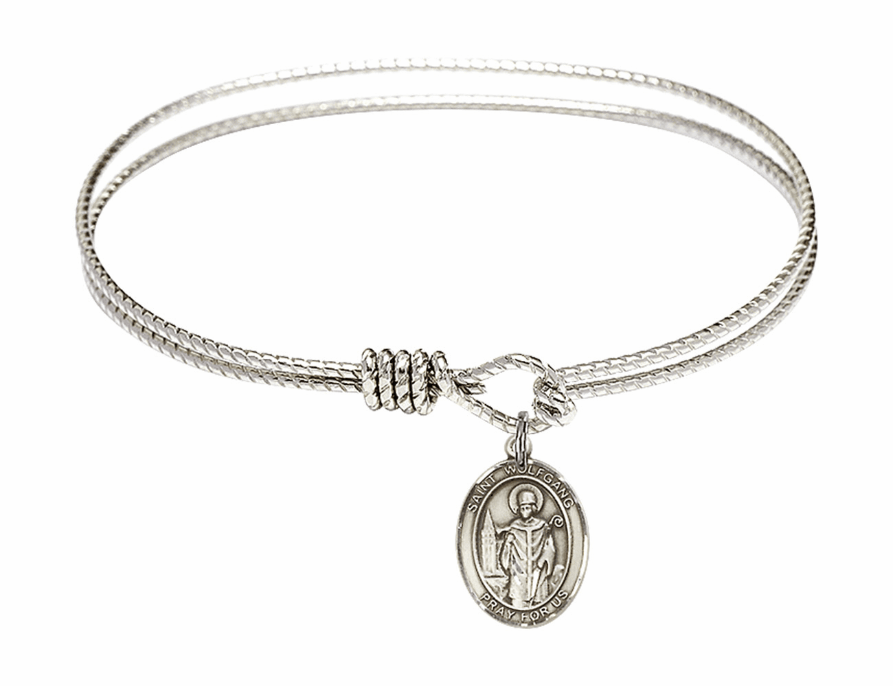 St Wolfgang Textured Bangle w/Sterling Charm Bracelet by Bliss