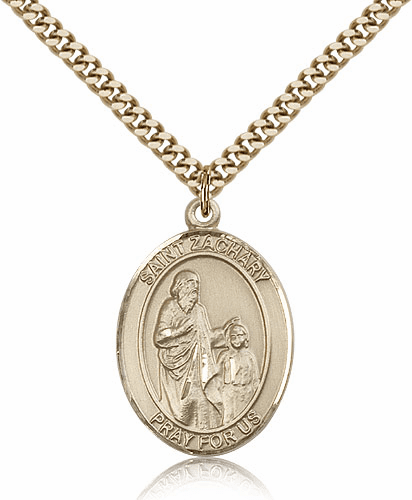 St Zachary 14kt Gold-filled Patron Saint Medal Necklace by Bliss