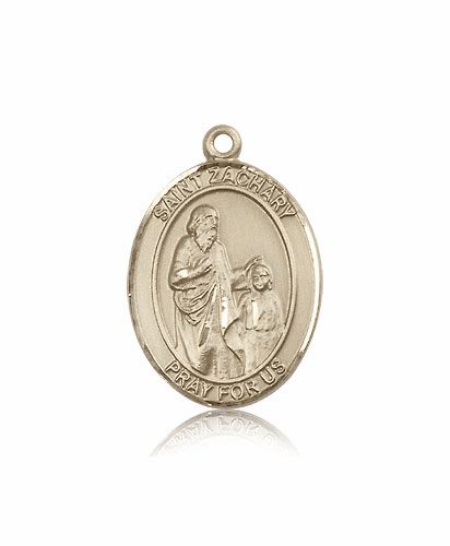 St Zachary 14kt Gold Patron Saint Medal Pendant by Bliss