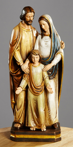 Standing Holy Family Val Gardena Statue by Avalon Gallery