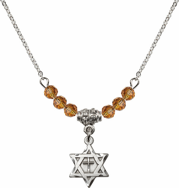 Star of David Beaded Charm Necklaces