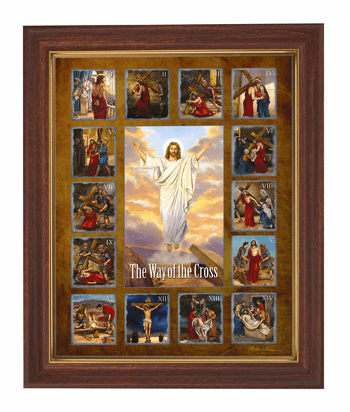 Stations of the Cross Framed Print Picture by Gerffert