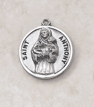 Sterling Patron Saint Anthony Medal Necklace by Creed Jewelry