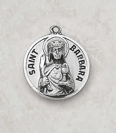 Sterling Patron Saint Barbara Medal by Creed Jewelry