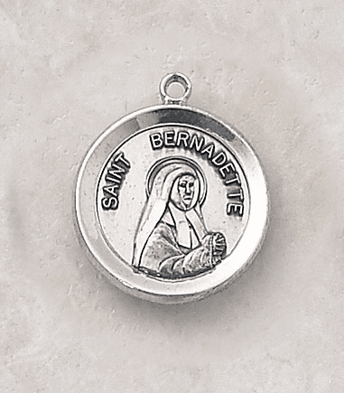 Sterling Patron Saint Bernadette Medal Necklace by Creed Jewelry