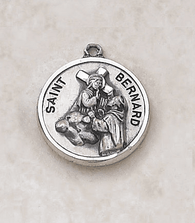 Sterling Patron Saint Bernard Medal by Creed Jewelry