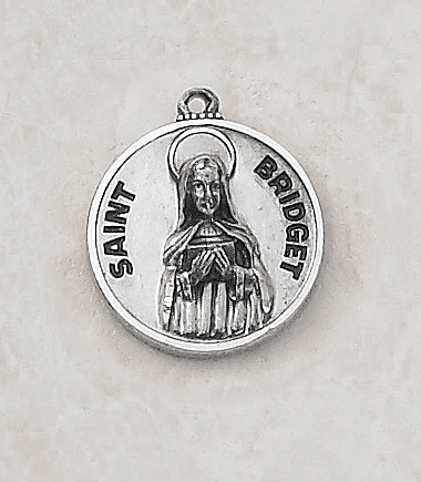 Sterling Patron Saint Bridget Medal Necklace by Creed Jewelry
