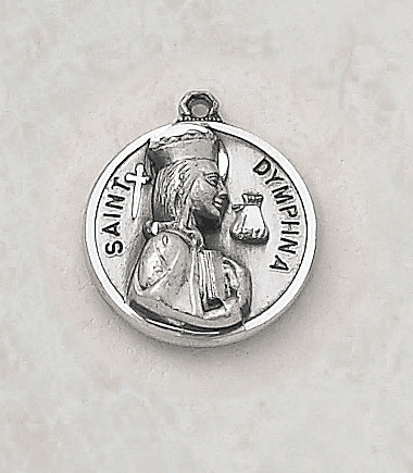 Sterling Patron Saint Dymphna Medal by Creed Jewelry