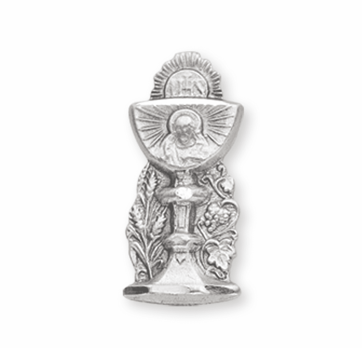 Sterling Silver 1st Holy Communion Chalice Lapel Pin w/Deluxe Screw by HMH Religious