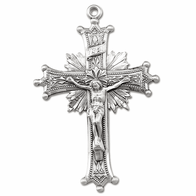 Sterling Silver Crucifix Rosary Parts by HMH Religious