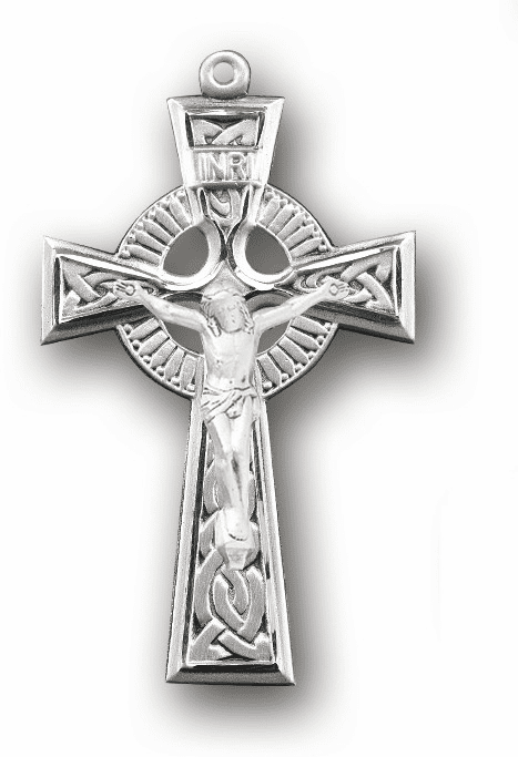 Sterling Silver Irish Celtic Rosary Crucifix by HMH Religious