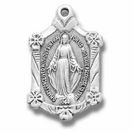Sterling Silver Miraculous Medals & Jewelry