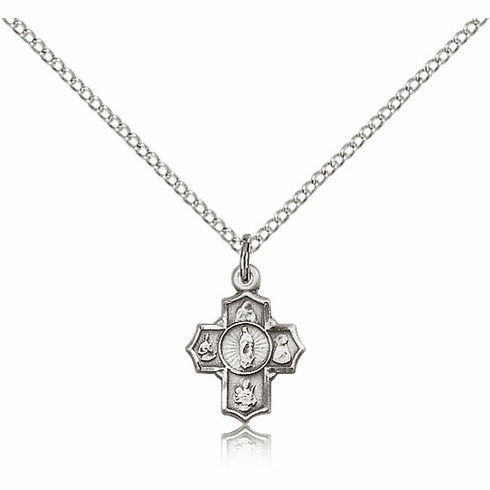 Sterling Silver Motherhood 5-Way Cross Necklace by Bliss Manufacturing