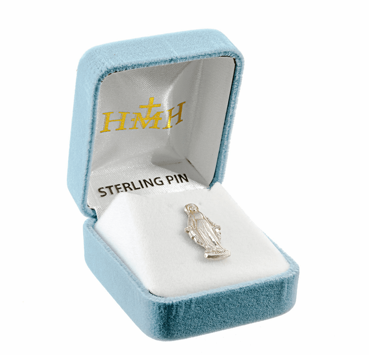 Sterling Silver Our Lady of Grace Lapel Pin w/Deluxe Screw by HMH Religious