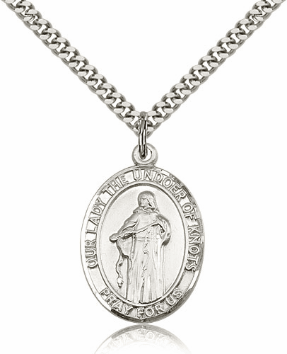 Sterling Silver Our Lady of Knot Patron Medal