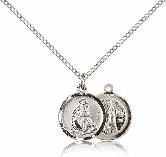 Sterling Silver Our Lady of La Salette Pendant by Bliss