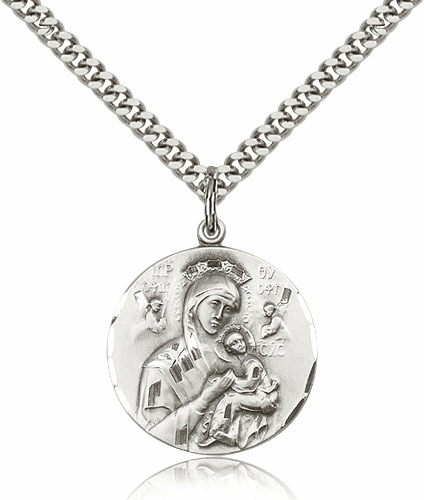 Sterling Silver Our Lady of Perpetual Help Necklace