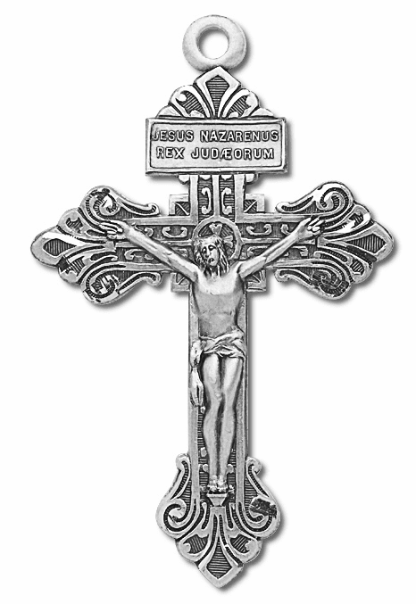 Sterling Silver Pardon Crucifix Rosary Part by HMH Religious