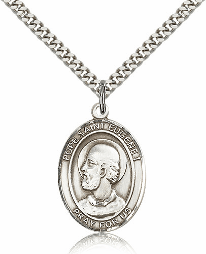 Sterling Silver Pope Saint Eugene I Pendant  Necklace by Bliss