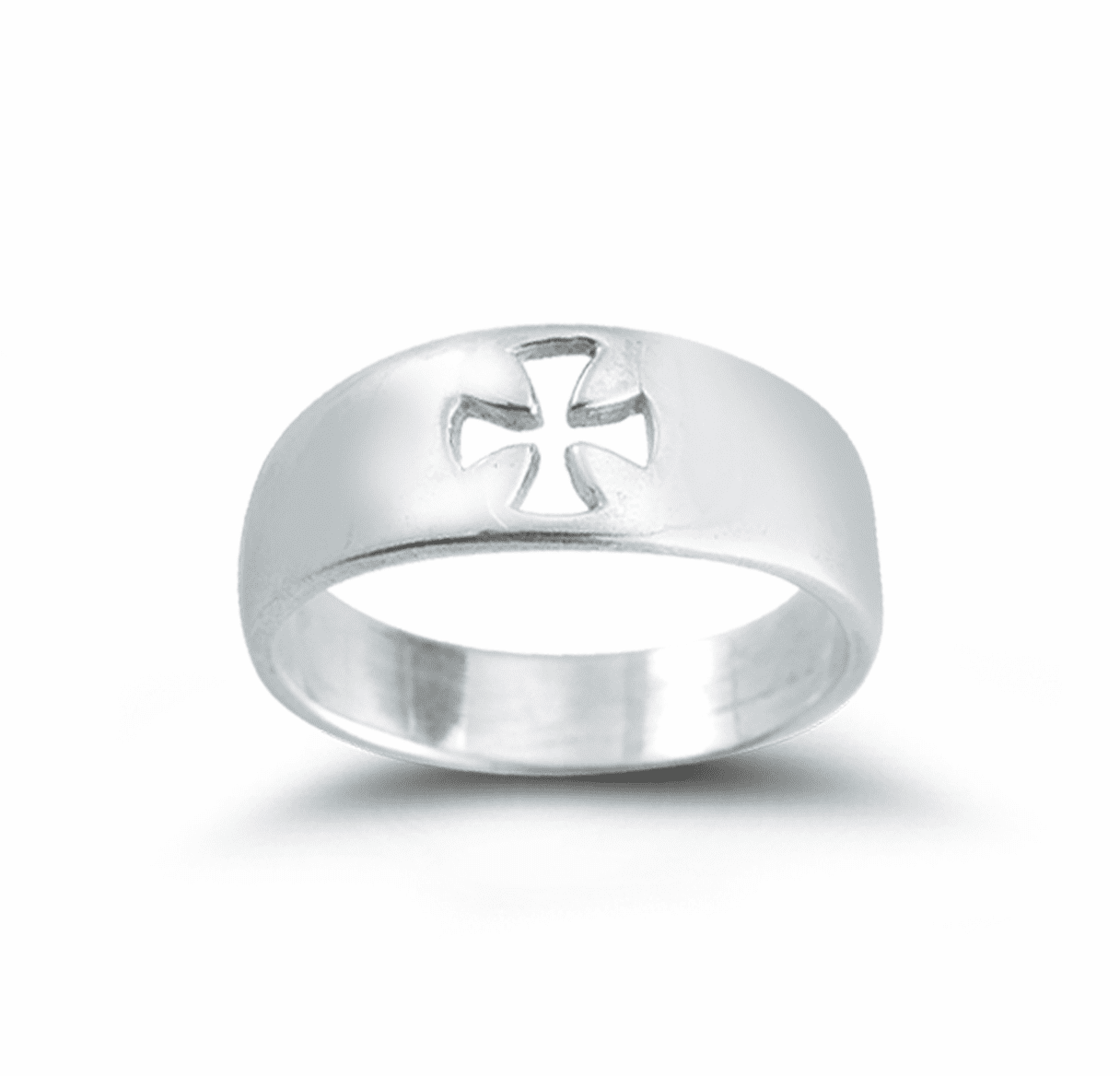 Sterling Silver Ring with Cross Cut Out by HMH Religious